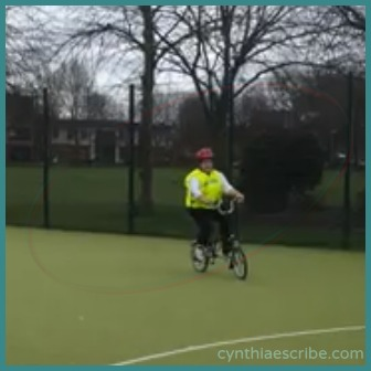 Still of the time I learned to ride. From a video by Maryam Amatullah.