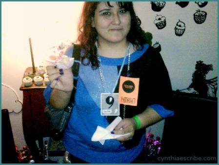 At Nrmal Fest, with press badges.